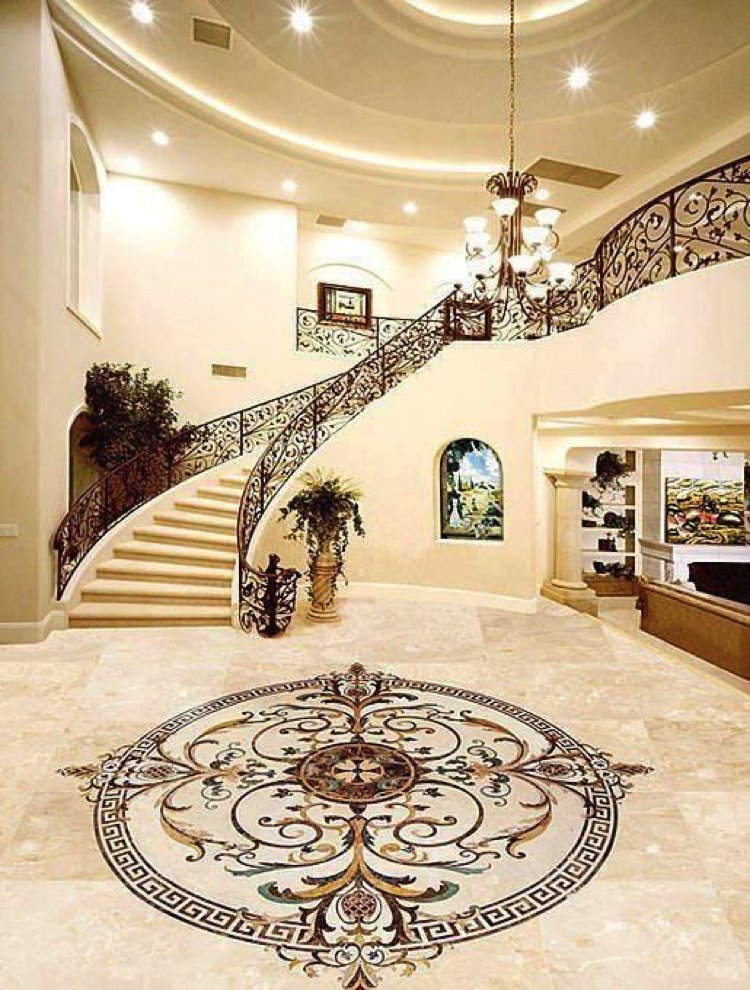 Mosaic Floor Inlay | Mosaics Lab | Tile Mosaic Artwork, Mosaic Patterns, Handmade Mosaic Art