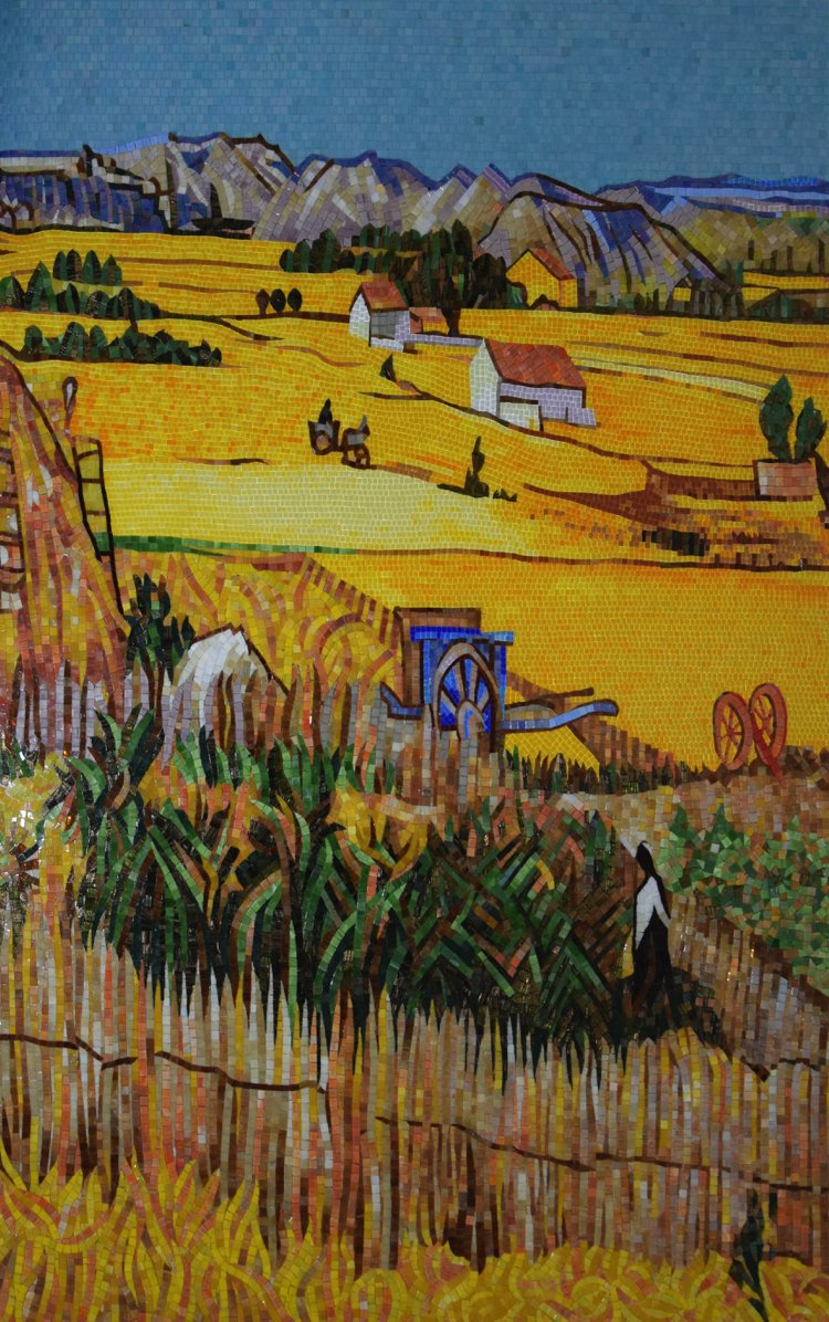 The Harvest mosaic artwork reproduction by Mosaics Lab.