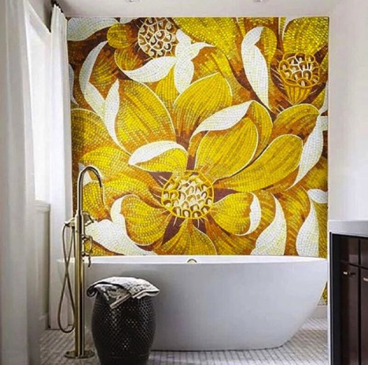 Bathroom Mosaic Backsplash | Mosaics Lab | Tile Mosaic Artwork, Mosaic Patterns, Handmade Mosaic Art