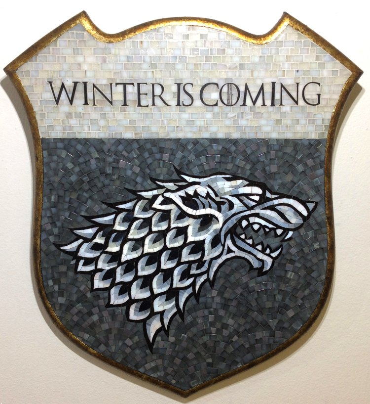 House Stark mosaic artwork coat of arms.