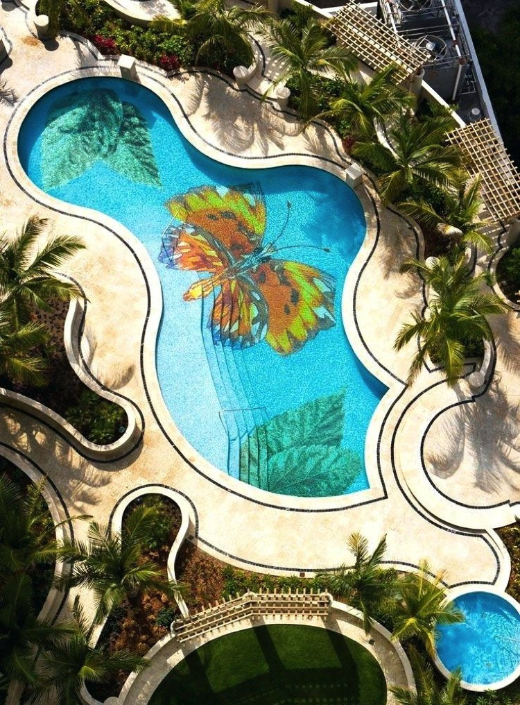 Stunning Swimming Pool Mosaic Artwork
