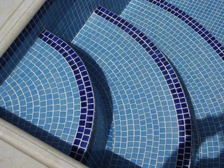 Porcelain Swimming Pool Steps Mosaic Art