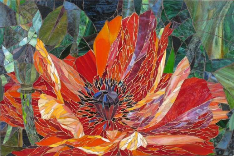 Floral Mosaic Design by Yulia Hanansen
