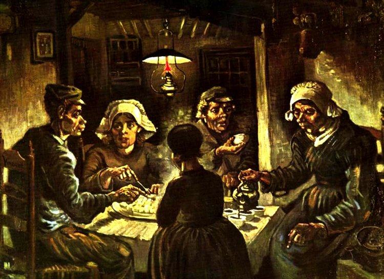 The Potato Eaters artwork by Vincent van Gogh.