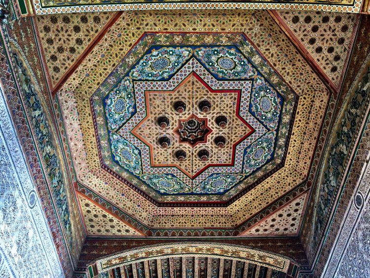 This bohemian star with a complex mosaic art aura is a gorgeous example of Moroccan craftsmanship and culture.