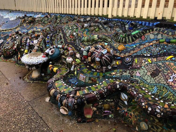 This stunning mosaic artwork on the main street of Nambucca Heads.