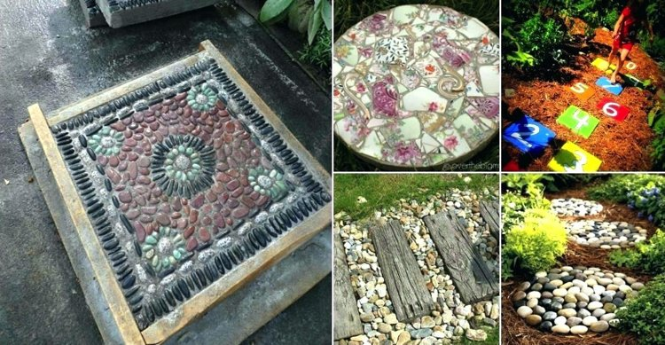 Mosaic art stepping stones are gorgeously versatile and add life to outdoor gardens
