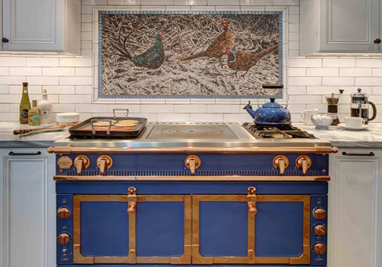 Marble Tile Mosaic Backsplash Artwork