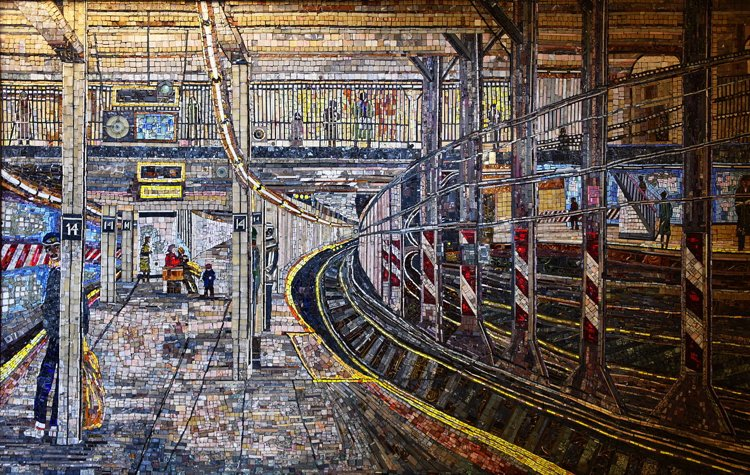 The stunning Spring street mosaic artwork is a must see.