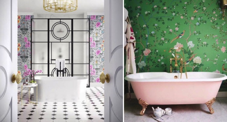 Colorful Bathroom With Fresh Contemporary Artwork