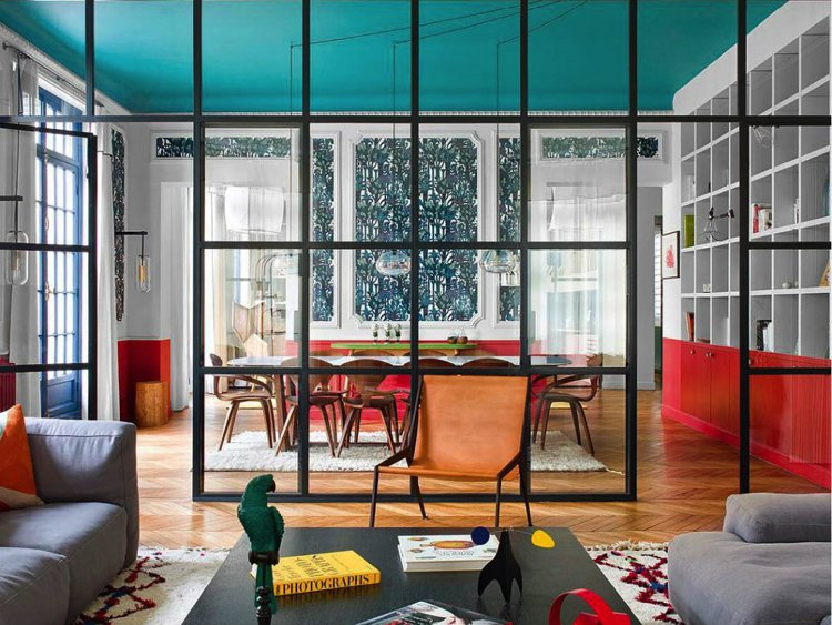 Beautiful and inviting colorful living space