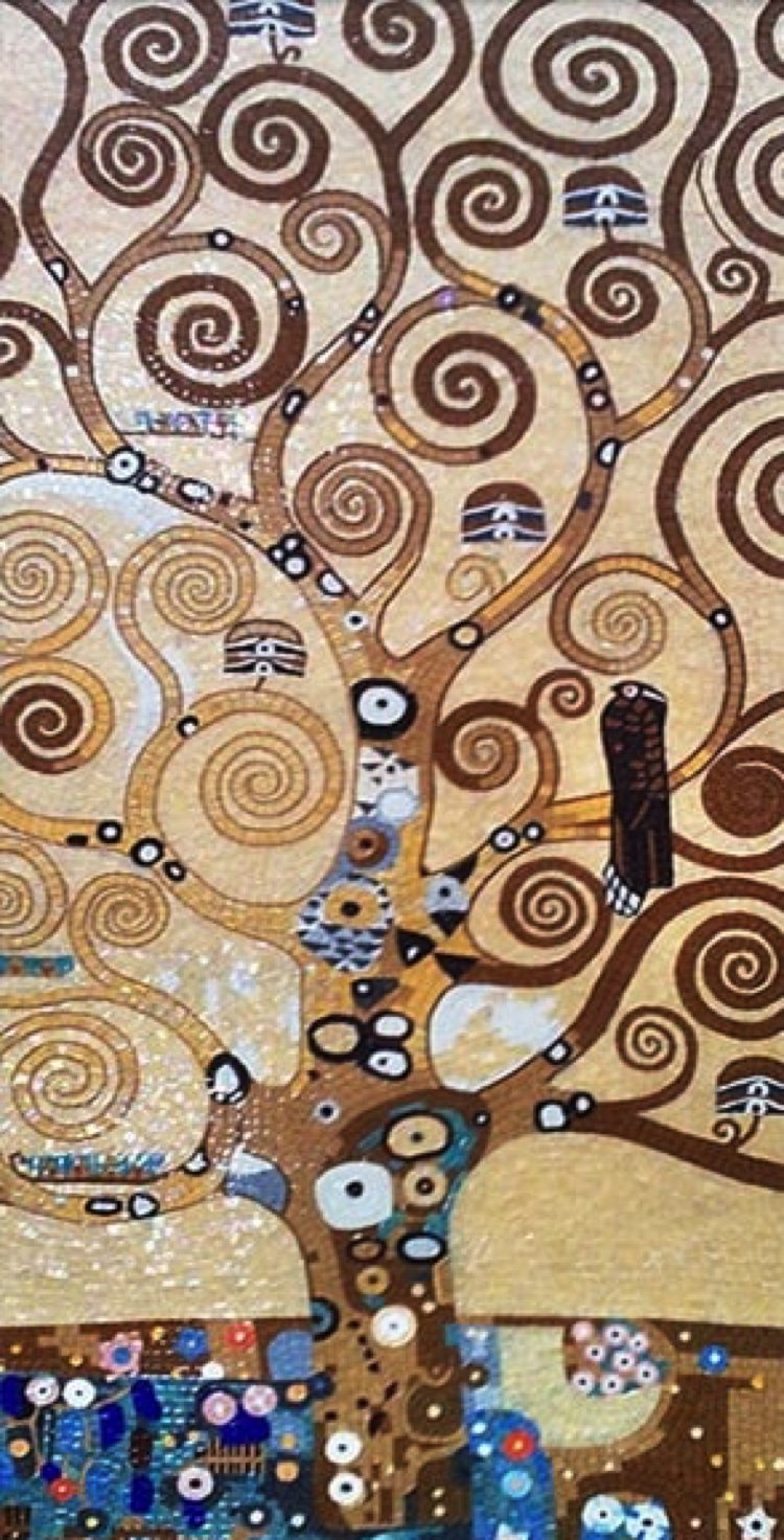Mosaic artwork reproduction of the tree of life by Mosaics Lab