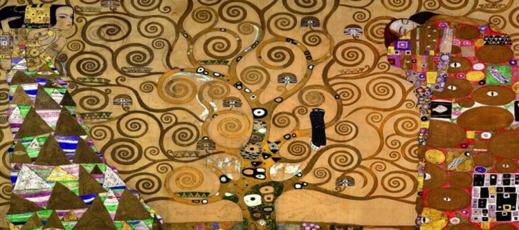 The tree of life painting by the famous Austrian painter Gustav Klimt