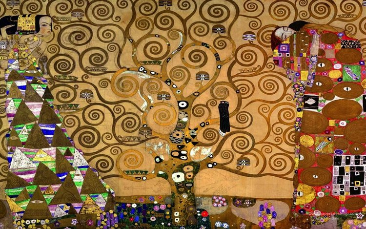 The Tree of life painting by Gustav Klimt