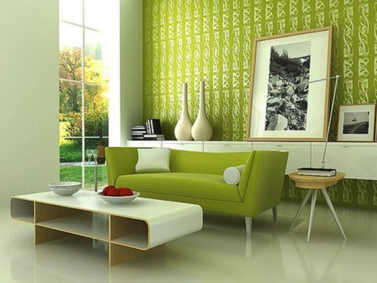 Green is associated with nature which makes us calmer and relaxed.