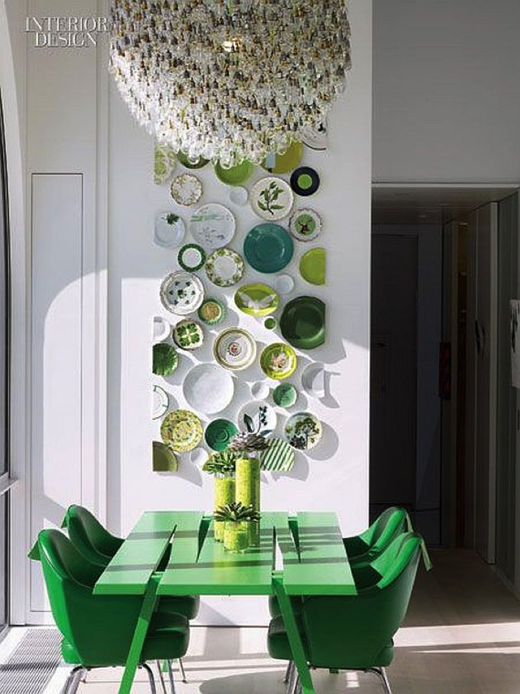 Go bold with deep green interior color, fresh, earthy and brave.