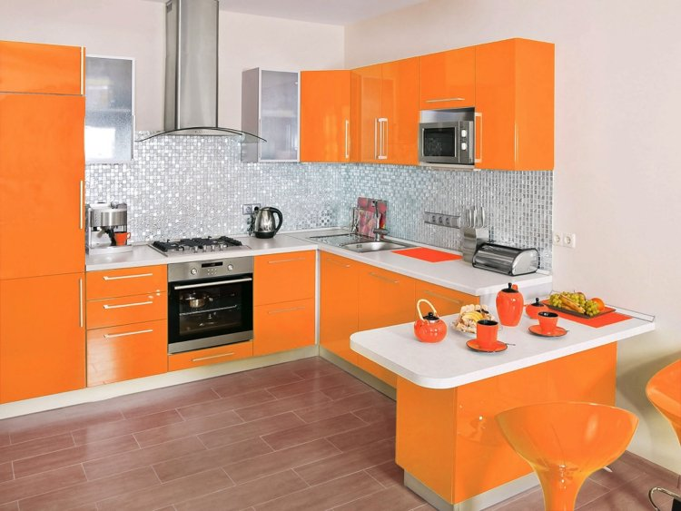 Beautiful orange adds freshness to your interiors.