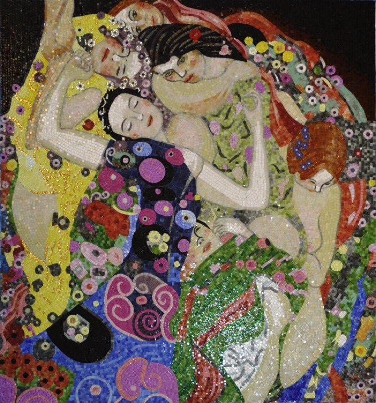 The Virgins mosaic reproduction by the mosaic art studio Mosaics Lab