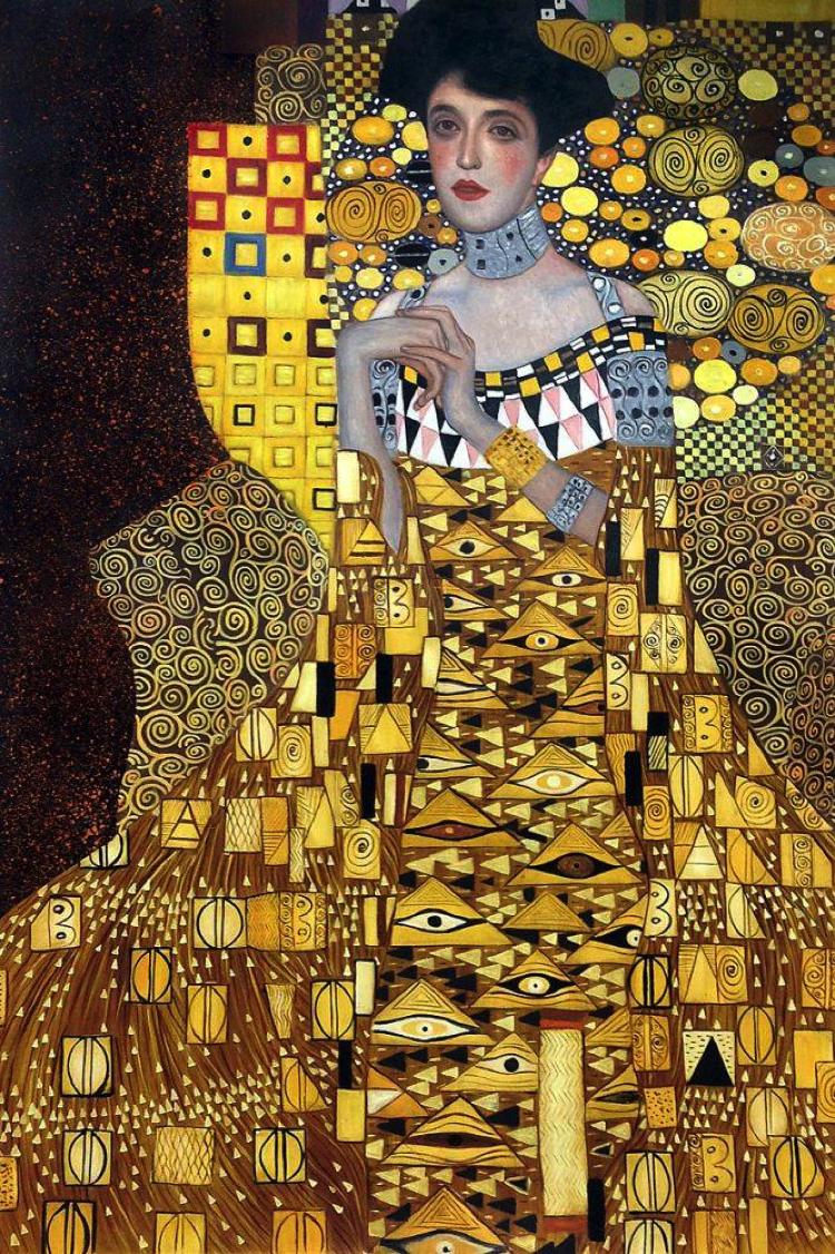 The portrait of Adele Bloch-Bauer artwork by Gustav Klimt