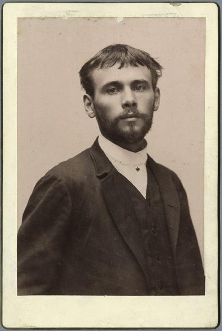 The photograph of Gustav Klimt