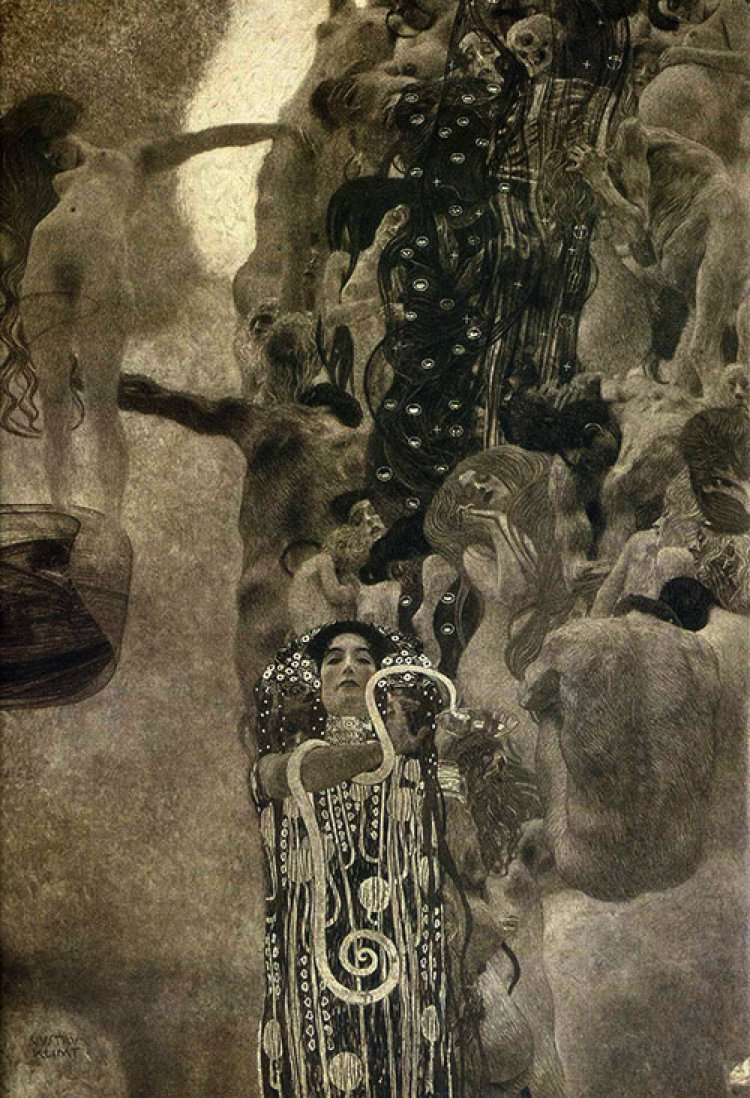 The ceiling mural at the great hall by Gustav Klimt