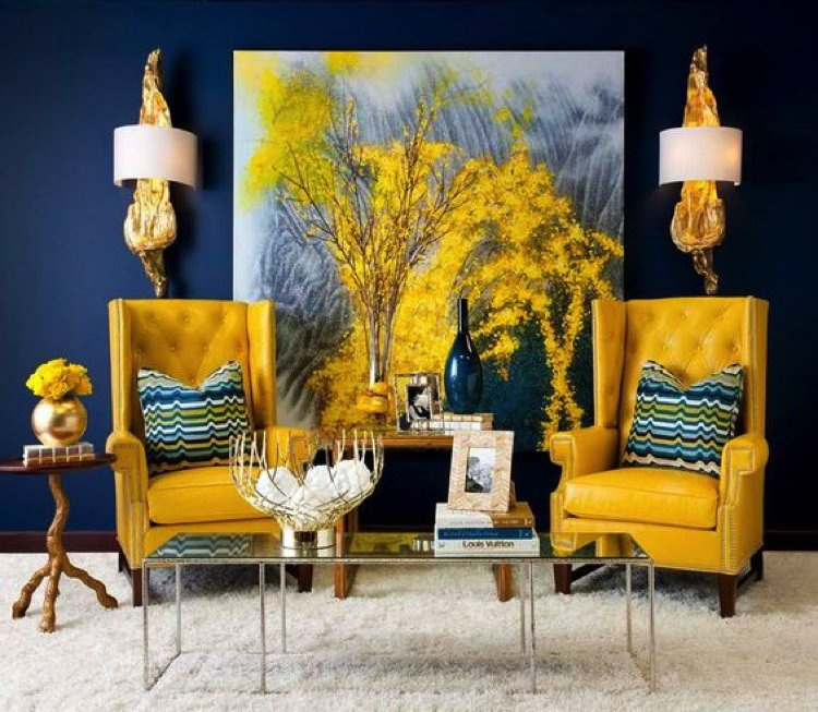 Adding yellow color to a living room fills it with zest making it a creative and refreshing.