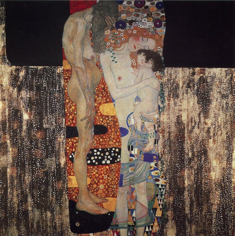 The three ages of woman artwork by Gustav Klimt