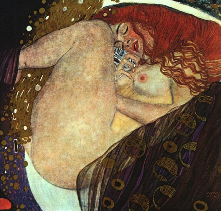 Danae artwork by Gustav Klimt
