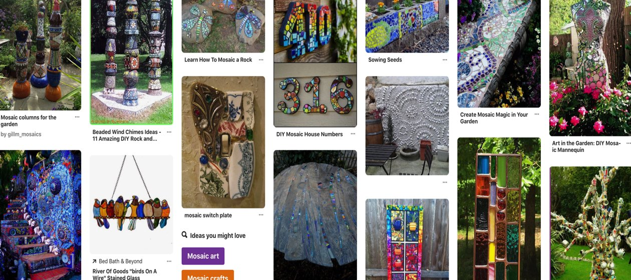 Seen on Pinterest – The creative mastery of contemporary mosaic art