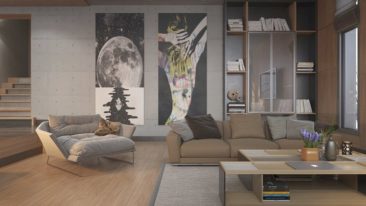 Wall art displayed in a living room can transform it.