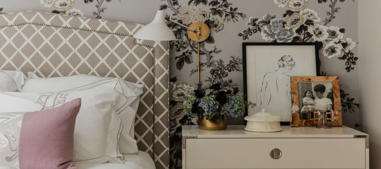 A small artwork by the side bed can lift the mood of a room and inspire you.