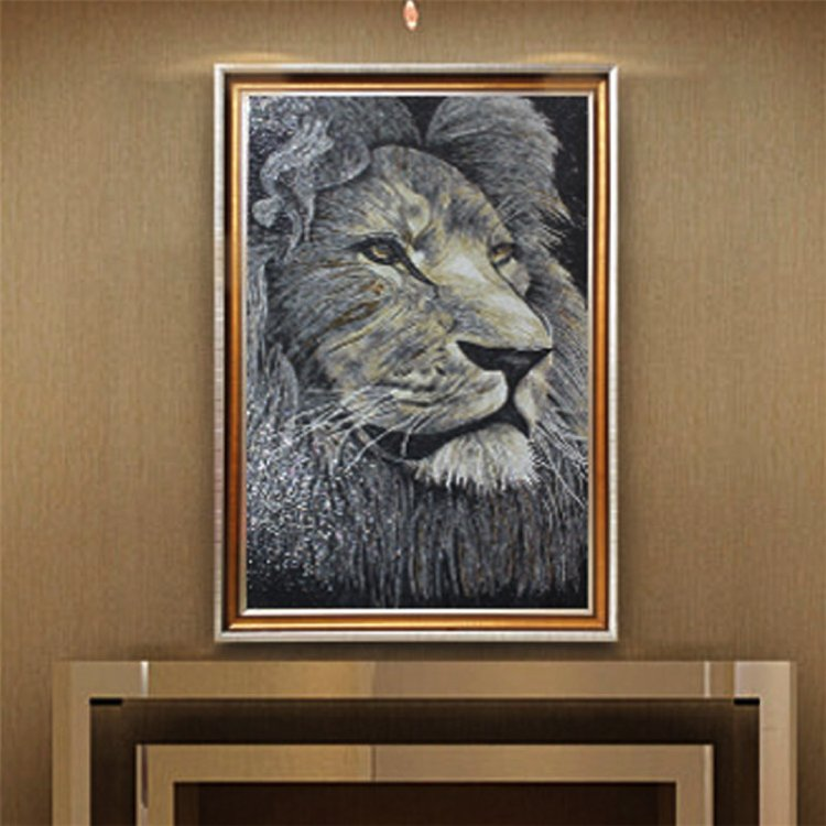 Mosaic Artwork of a lion by Lorenzo De Rosso Copyright © Mosaics Lab