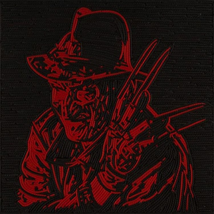 Freddy Krueger Mosaic artwork by Jason Mecier.