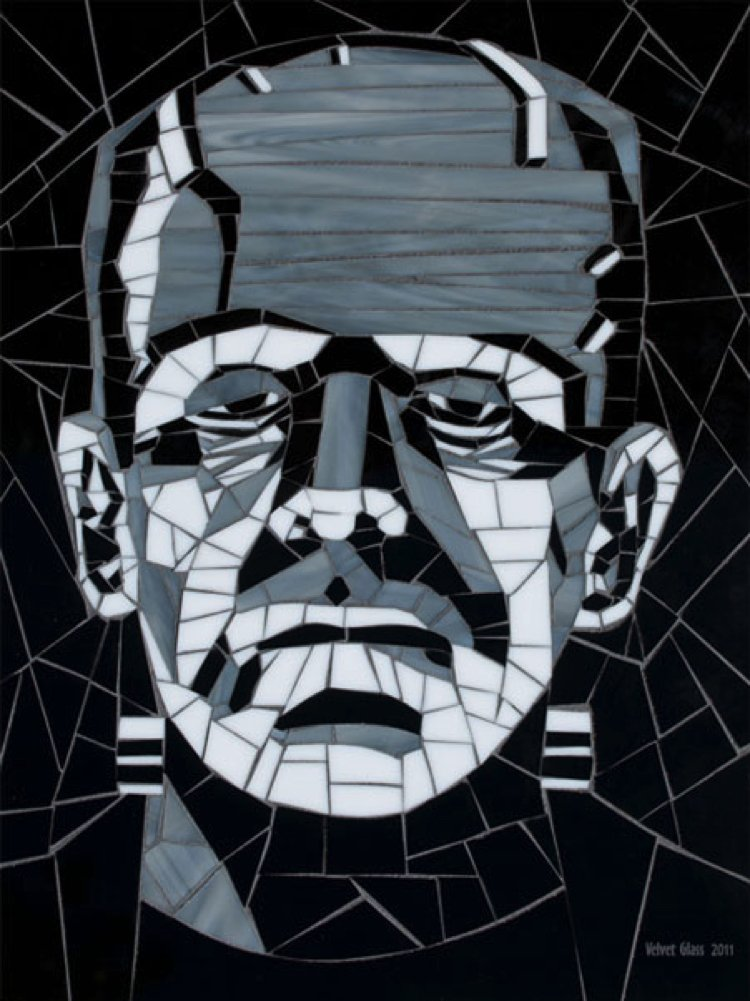 Frankenstein Mosaic Artwork by Velvet Glass.