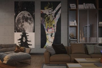 Custom Wall art in a living room elevates it