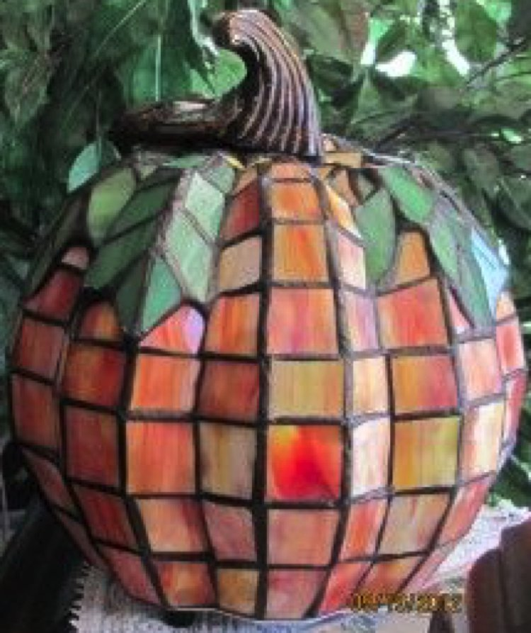 Beautiful handmade Glass mosaic pumpkin