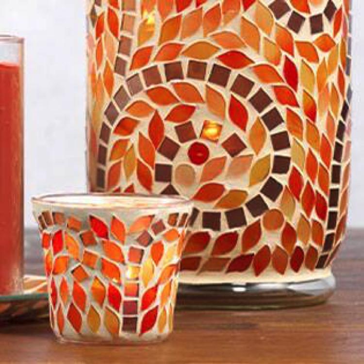 Wonderfully warming mosaic Yankee Candle-holders