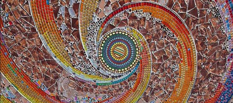 Contemporary Mosaic Artwork, Custom Mosaic Design, Mosaic Art