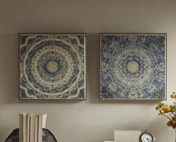 Handmade Mosaic Mandalas make a great home accent.