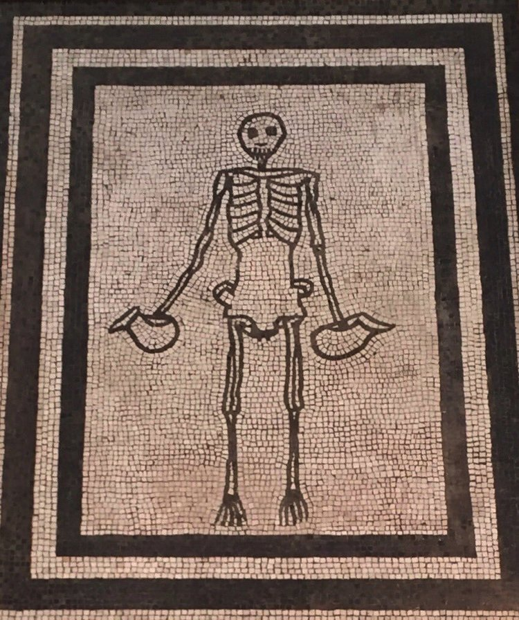 memento mori spooky Halloween mosaic artwork