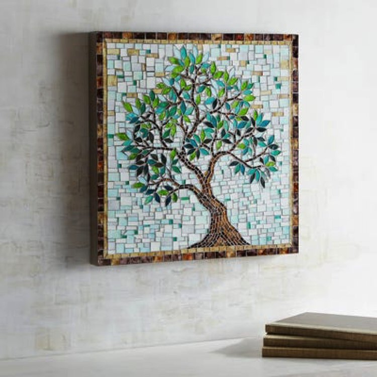 Handmade Mosaic home accent.