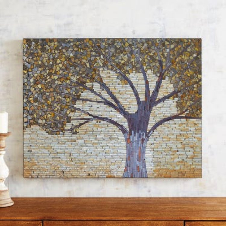 A beautiful handmade mosaic home accent.