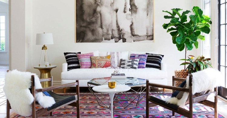 Contemporary living room designed according to the ancient art of Feng Shui