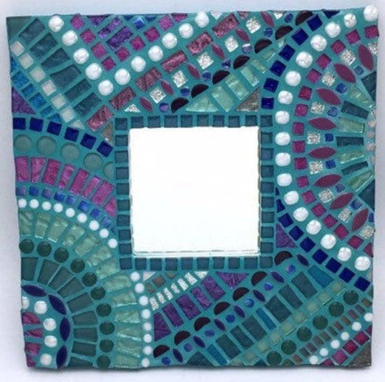 Handmade Mosaic mirror frame as a home accent.