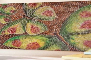 Mosaic Home Accent, Tile Mosaic Artwork, Mosaic Designs, Handmade Mosaic Art