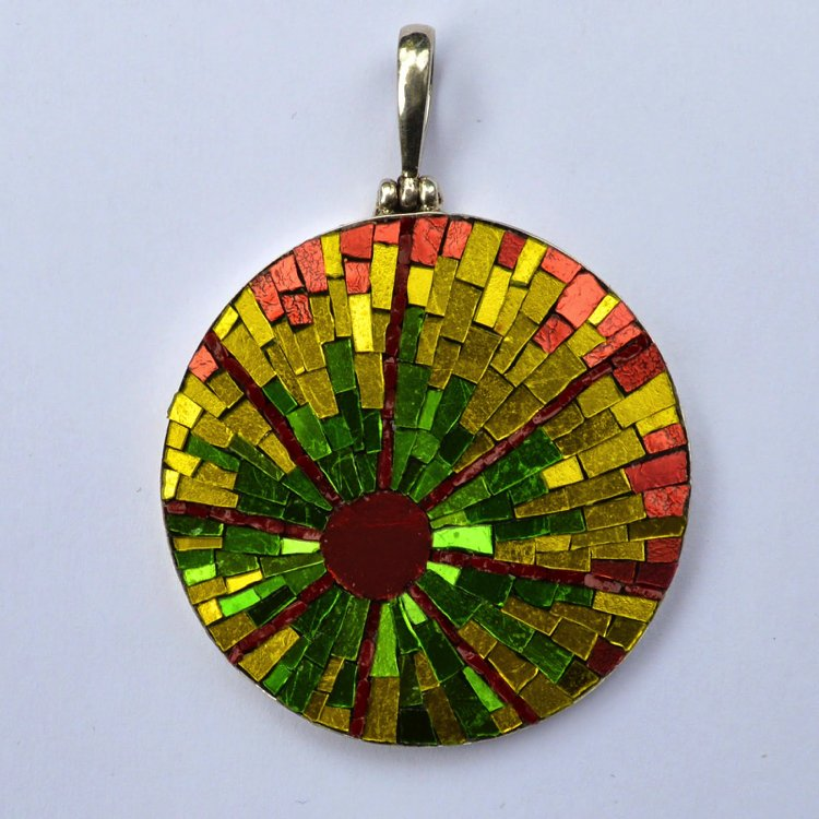 Colorful mosaic jewelry designed by Margo Anton