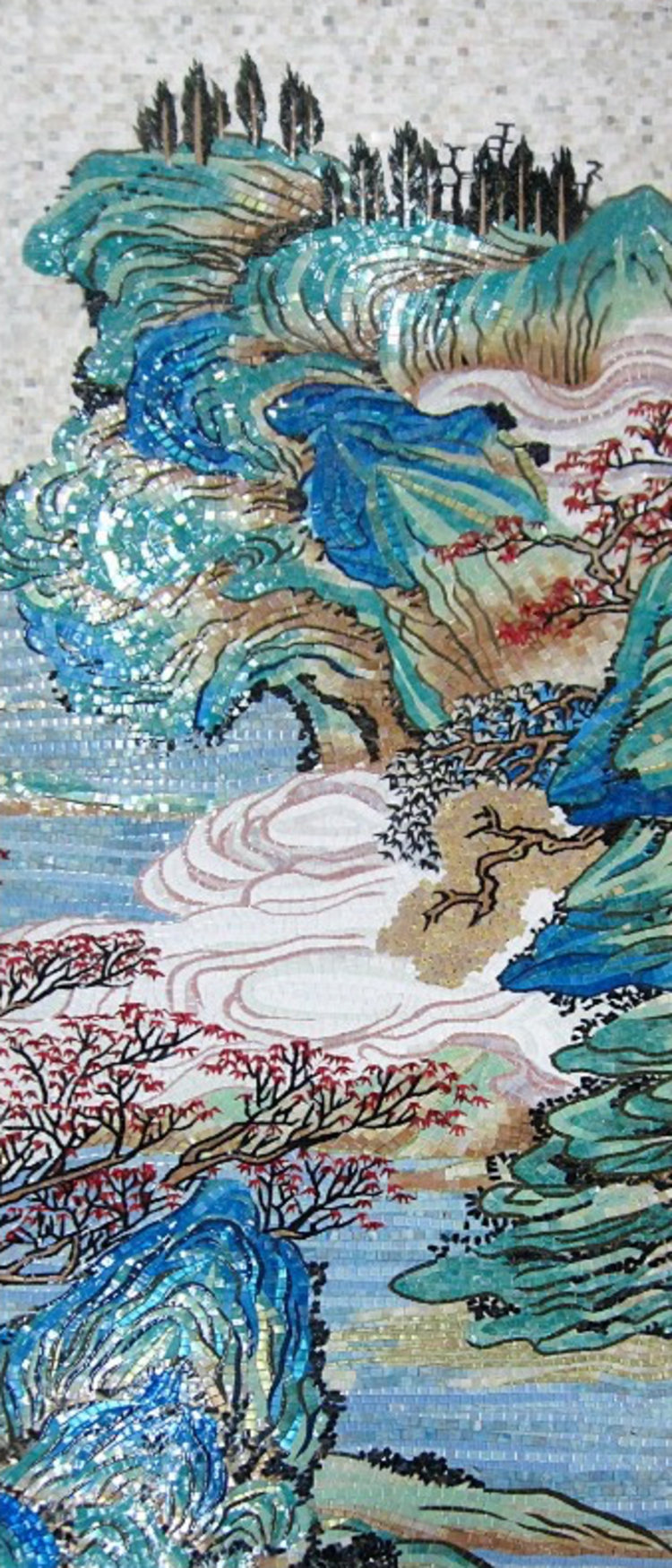 Elegant floral mosaic…Mosaics Artwork—Copyright © Mosaics Lab