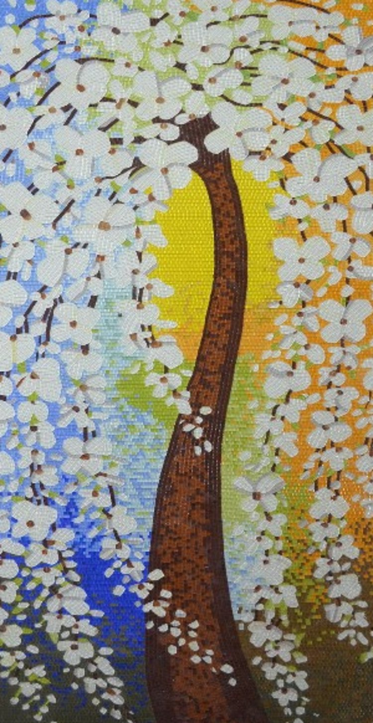 A beautiful authentic mosaics art of a tree by mosaics lab