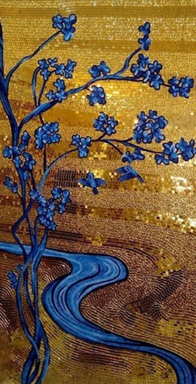 A modern handmade mosaic artwork by mosaics lab