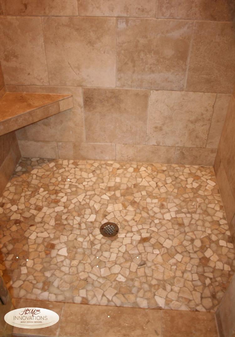 Wonderful sandstone shower mosaic inlay